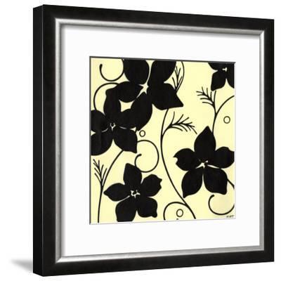 Cream with Black Flowers-Norman Wyatt, Jr^-Framed Art Print