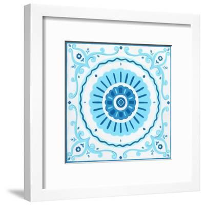 Folk Tile IV-June Erica Vess-Framed Art Print