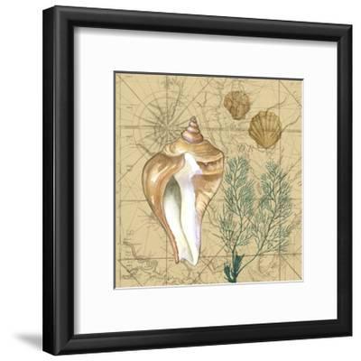 Coastal Map Collage III-Vision Studio-Framed Art Print