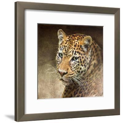 Leopard-Chris Vest-Framed Art Print