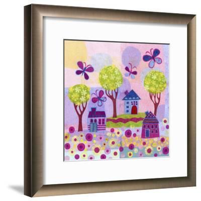 Springtime Houses-Kim Conway-Framed Art Print