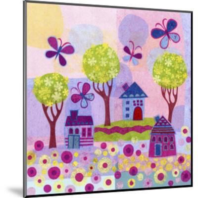 Springtime Houses-Kim Conway-Mounted Art Print