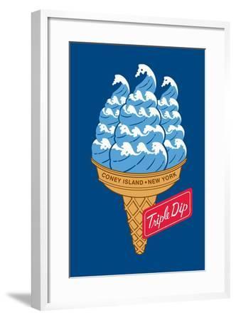 Coney Island Triple Dip-Melinda Beck-Framed Art Print