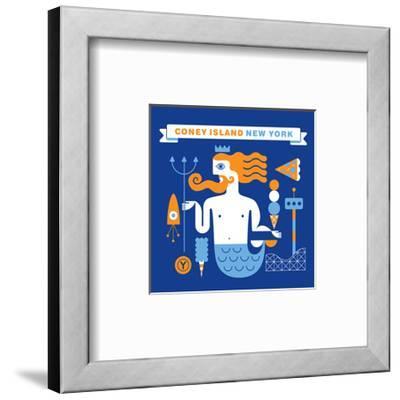 Coney Island Merman-Melinda Beck-Framed Art Print