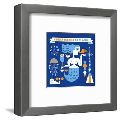 Coney Island Mermaid-Melinda Beck-Framed Art Print