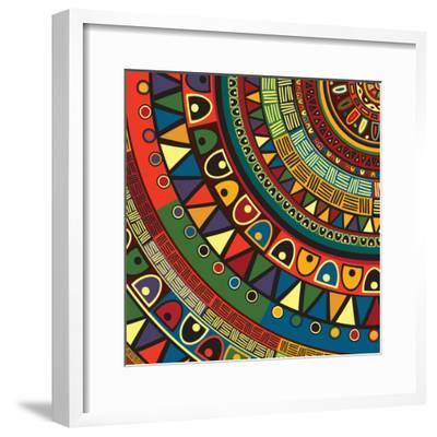 Colored Tribal Design, Abstract Art-Richard Laschon-Framed Photographic Print