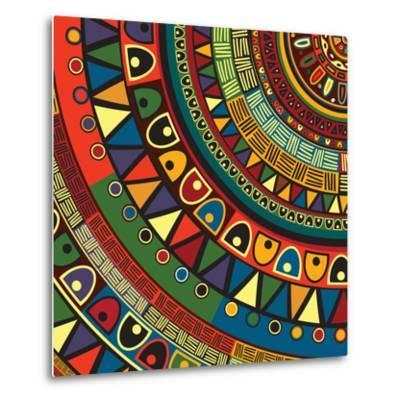 Colored Tribal Design, Abstract Art-Richard Laschon-Metal Print