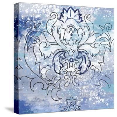 Blue Ex II-Eva Watts-Stretched Canvas Print