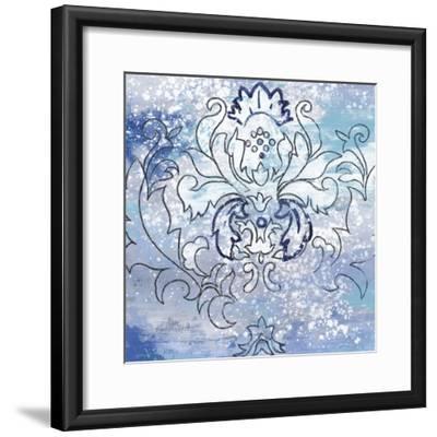 Blue Ex II-Eva Watts-Framed Art Print