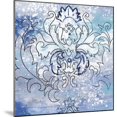 Blue Ex II-Eva Watts-Mounted Art Print