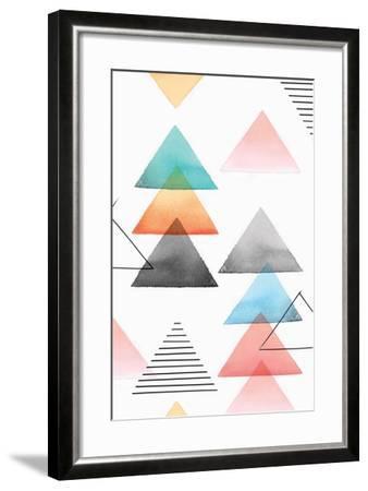 Group of Triangles I-Isabelle Z-Framed Art Print