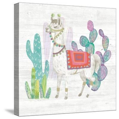 Lovely Llamas V-Mary Urban-Stretched Canvas Print