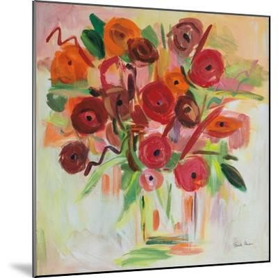Poppy Burst-Farida Zaman-Mounted Art Print