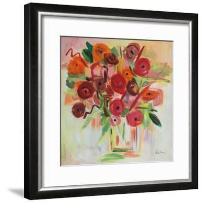 Poppy Burst-Farida Zaman-Framed Art Print