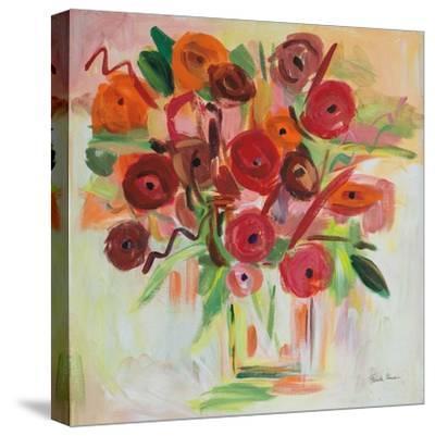Poppy Burst-Farida Zaman-Stretched Canvas Print