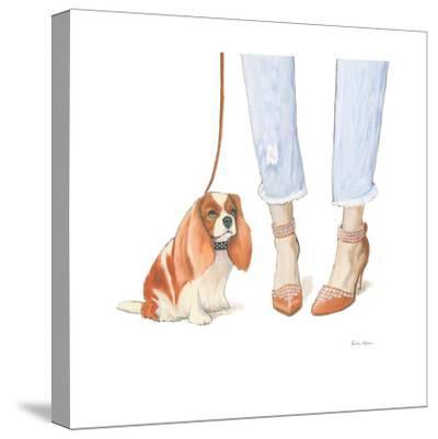 Furry Fashion Friends IV-Emily Adams-Stretched Canvas Print