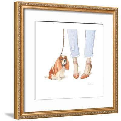 Furry Fashion Friends IV-Emily Adams-Framed Art Print