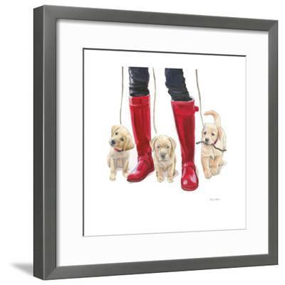 Furry Fashion Friends I-Emily Adams-Framed Art Print