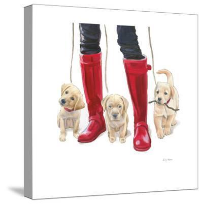 Furry Fashion Friends I-Emily Adams-Stretched Canvas Print