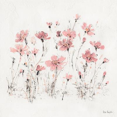 Wildflowers III Pink-Lisa Audit-Framed Art Print