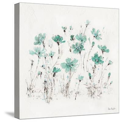 Wildflowers III Turquoise-Lisa Audit-Stretched Canvas Print
