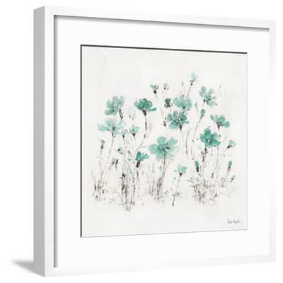 Wildflowers III Turquoise-Lisa Audit-Framed Art Print