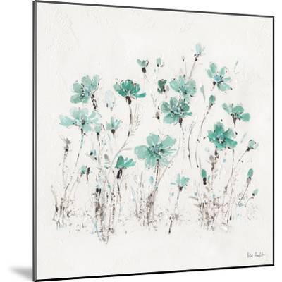 Wildflowers III Turquoise-Lisa Audit-Mounted Art Print