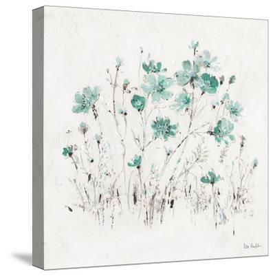 Wildflowers II Turquoise-Lisa Audit-Stretched Canvas Print