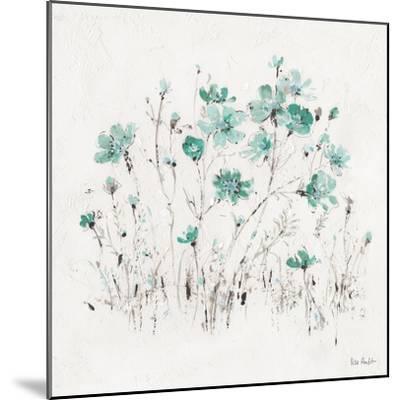 Wildflowers II Turquoise-Lisa Audit-Mounted Art Print