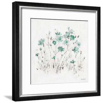 Wildflowers II Turquoise-Lisa Audit-Framed Art Print