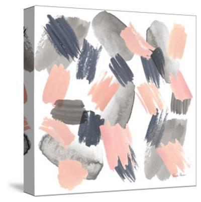 Grey Pink Mist II-Farida Zaman-Stretched Canvas Print