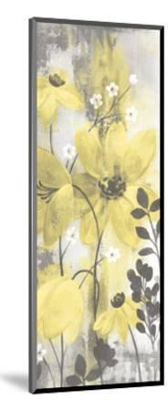 Floral Symphony Yellow Gray Crop II-Silvia Vassileva-Mounted Art Print