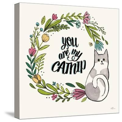 Purrfect Garden VI-Janelle Penner-Stretched Canvas Print