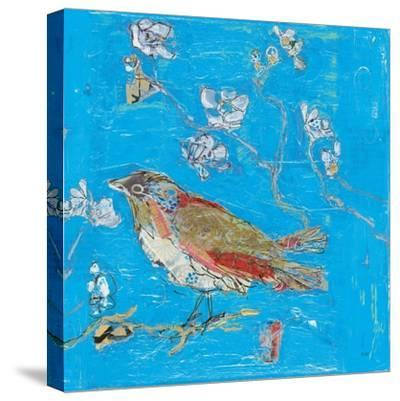 Blue Bird-Kellie Day-Stretched Canvas Print