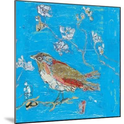Blue Bird-Kellie Day-Mounted Art Print