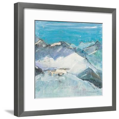 The Sun Never Says II Aqua-Kellie Day-Framed Art Print