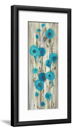 Roadside Flowers II Blue Crop-Silvia Vassileva-Framed Art Print