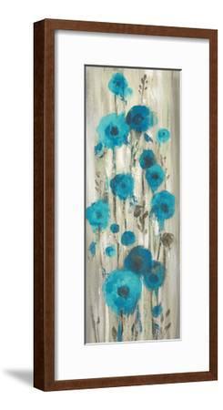 Roadside Flowers I Blue Crop-Silvia Vassileva-Framed Art Print
