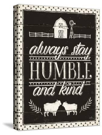 Country Thoughts IV Black-Janelle Penner-Stretched Canvas Print