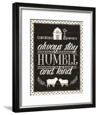 Country Thoughts IV Black-Janelle Penner-Framed Art Print