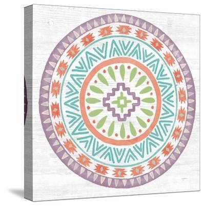 Lovely Llamas Mandala II-Mary Urban-Stretched Canvas Print
