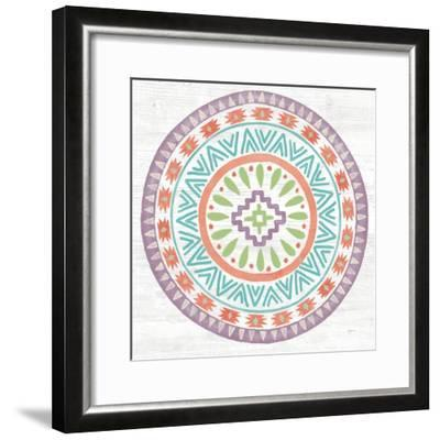Lovely Llamas Mandala II-Mary Urban-Framed Art Print