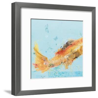 Fish in the Sea I Aqua-Kellie Day-Framed Art Print