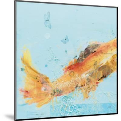Fish in the Sea I Aqua-Kellie Day-Mounted Art Print
