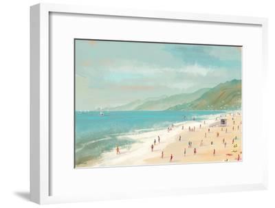 Santa Monica Beach-Pete Oswald-Framed Art Print