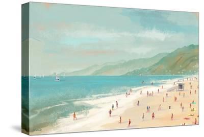 Santa Monica Beach-Pete Oswald-Stretched Canvas Print