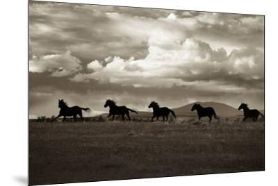 Racing the Clouds-Lisa Dearing-Mounted Photographic Print