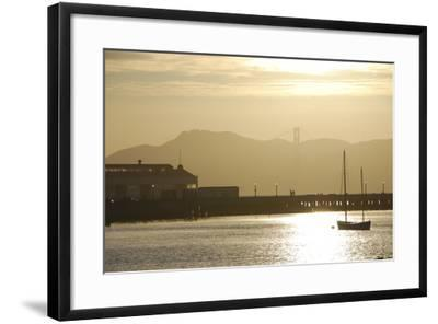 Sunset in San Francisco Bay, California-Anna Miller-Framed Photographic Print