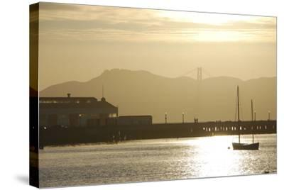 Sunset in San Francisco Bay, California-Anna Miller-Stretched Canvas Print