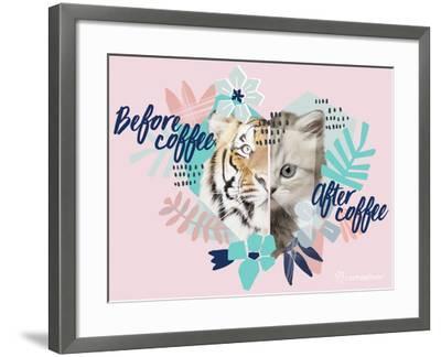 Coffee Cat-Rachael Hale-Framed Photo